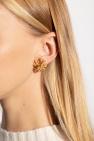 Tory Burch Brass earrings with logo