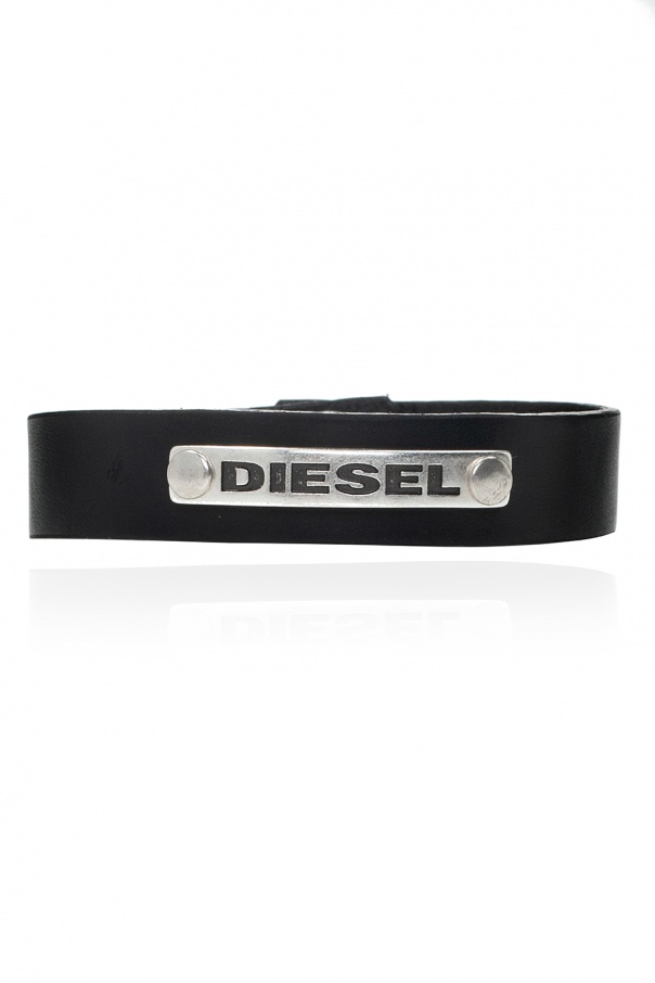 Diesel 'A-Clap' leather bracelet