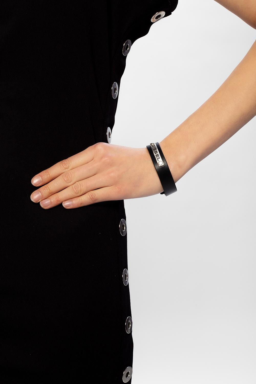 Diesel 'A-Clap' leather bracelet