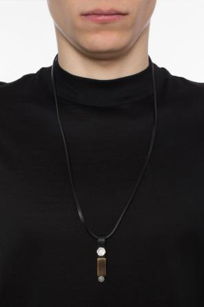 Leather necklace with charm od Diesel