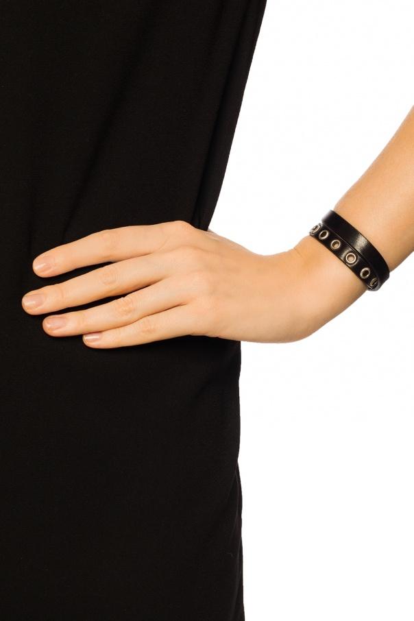 double bracelet with rivets diesel vitkac shop online. Black Bedroom Furniture Sets. Home Design Ideas