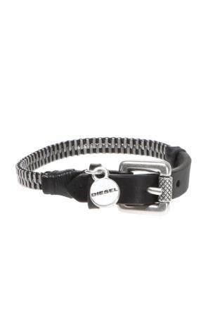 Zipper leather bracelet od Diesel