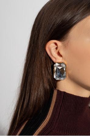 Clip-on zirconia earrings od Moschino