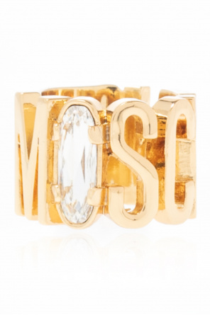 Ring with logo od Moschino