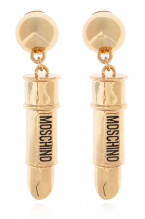 Clip-on earrings with logo od Moschino