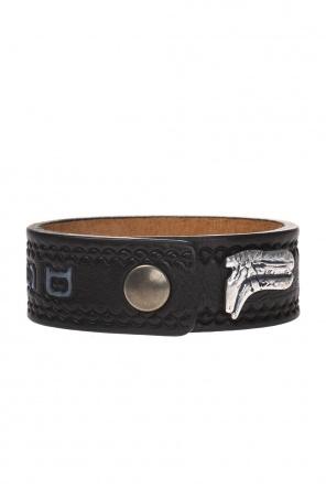 Bracelet with an embossed pattern and logo od Dsquared2