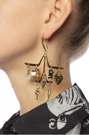Earrings with decorative charms od Lanvin
