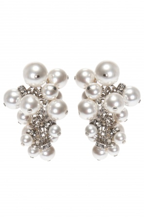 Earrings with glass pearls od Lanvin