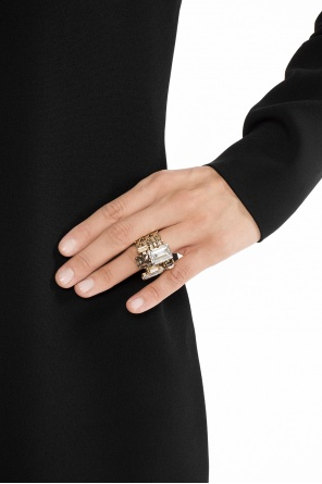 Encrusted ring od Lanvin