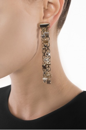 Embellished hanging earrings od Lanvin