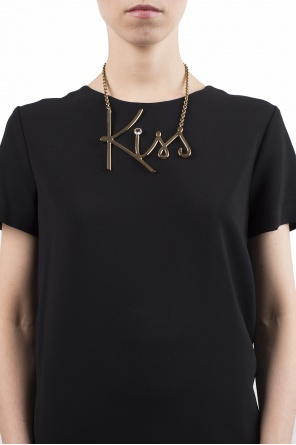 'kiss' pendant necklace od Lanvin