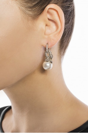 Swan motif earrings od Lanvin