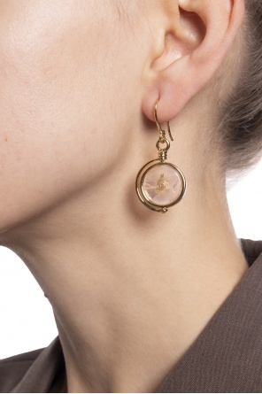 Brass earrings od Lanvin