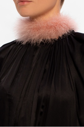 Necklace with feathers od Lanvin