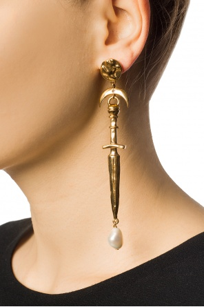 Asymmetrical earrings with pearls od Givenchy