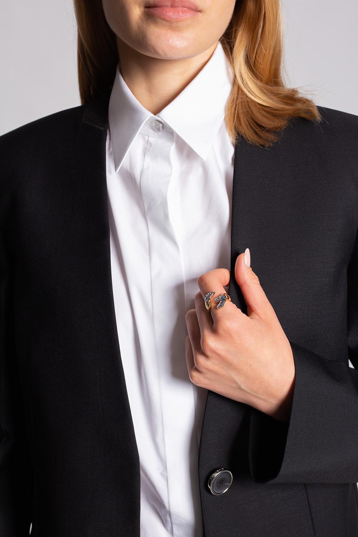 Givenchy 'G' brass ring