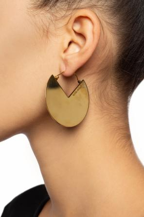 Logo-engraved earrings od Isabel Marant