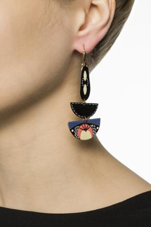 Patterned hanging earrings od Isabel Marant
