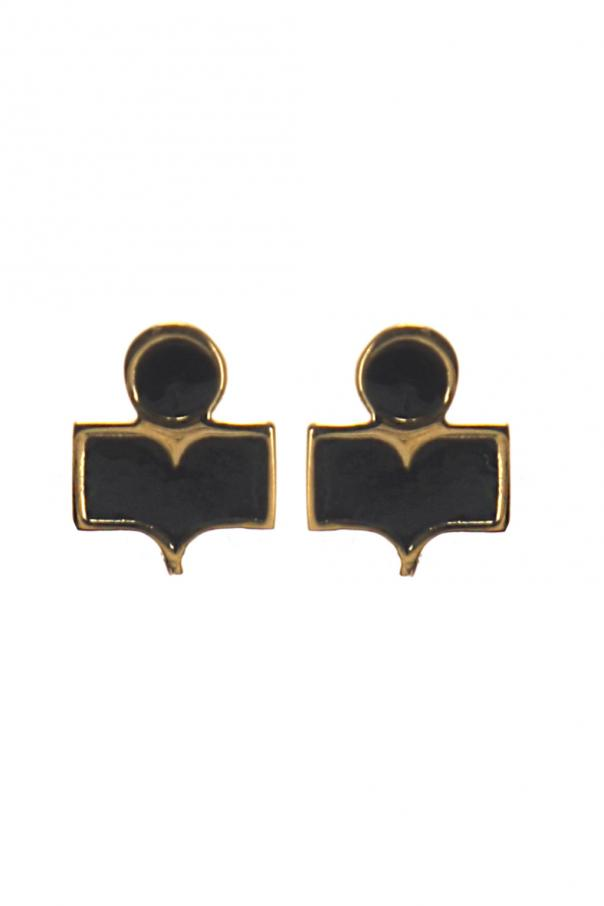 Logo-shaped earrings od Isabel Marant