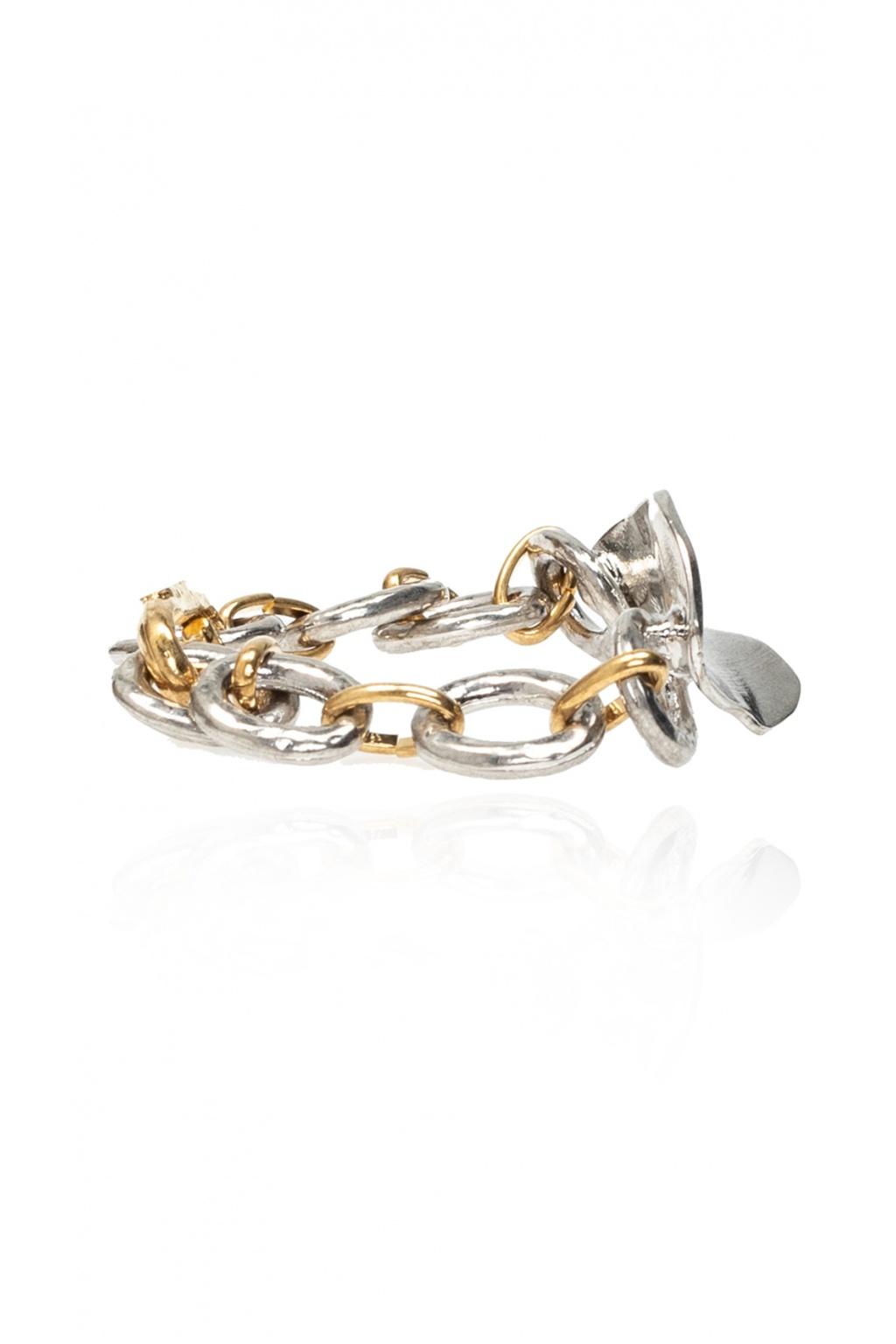Marni Brass bracelet with logo