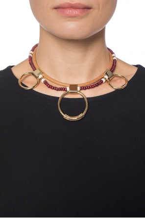 Double necklace with brass rings od Chloe