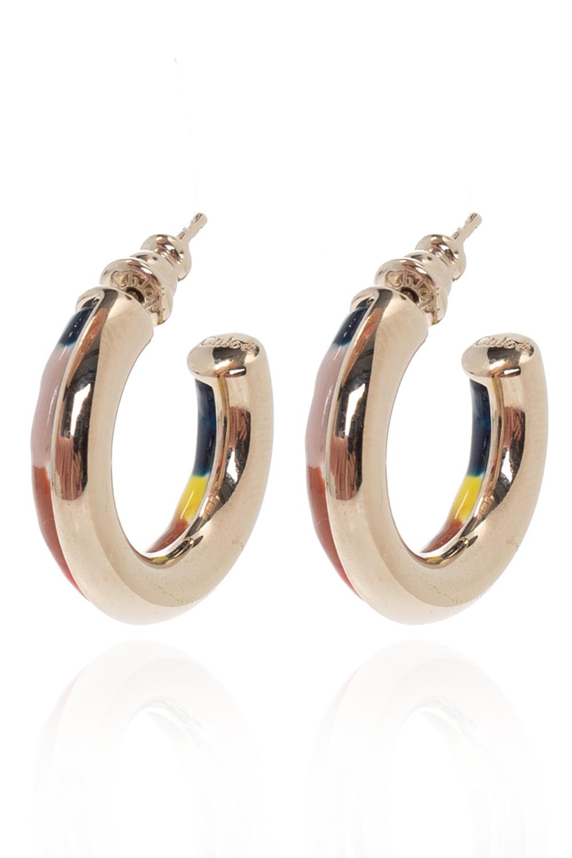Chloé 'Jamie' brass earrings