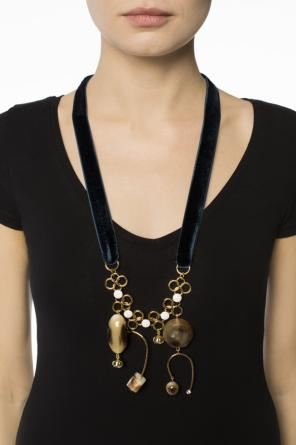 Velvet necklace with pendants od Marni