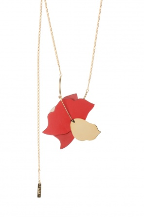 Necklace trimmed with leather od Marni