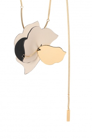 Leather-trimmed necklace od Marni
