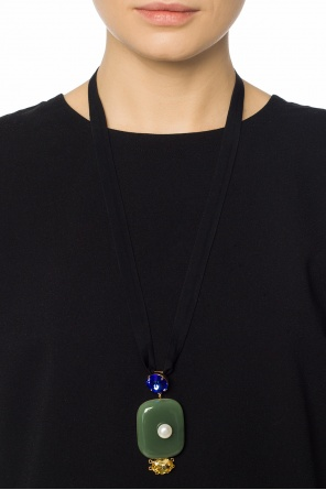 Necklace encrusted with stones od Marni