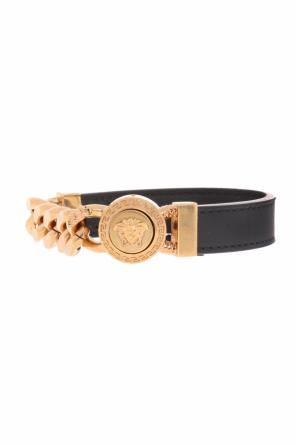 Medusa head leather bracelet od Versace