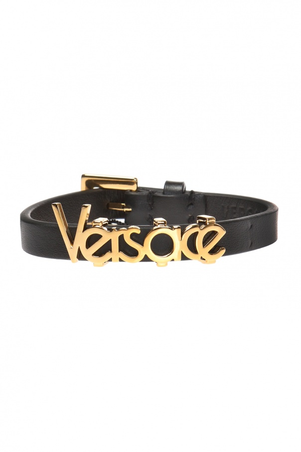 Bracelet with metal logo od Versace