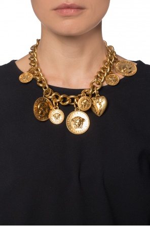Necklace in a chain form with a pendant od Versace