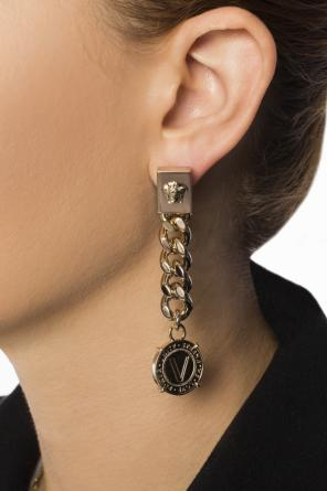 Hanging earrings with chain od Versace