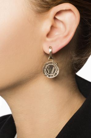 Hanging round earrings od Versace