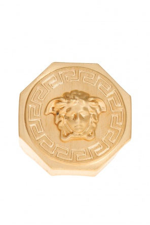 Medusa head-embossed ring od Versace