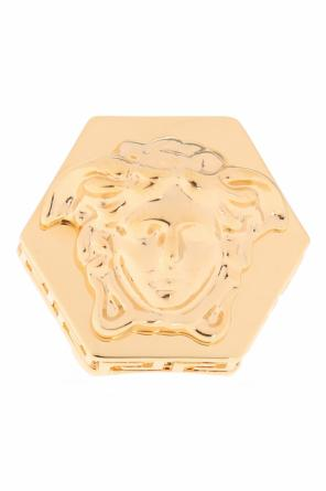 Medusa-embossed ring od Versace