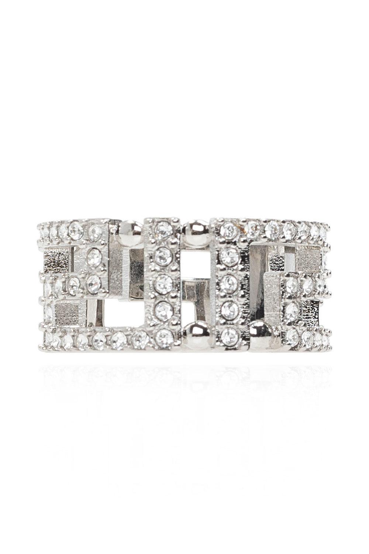 Versace Embellished ring