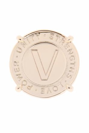 Logo-embossed ring od Versace