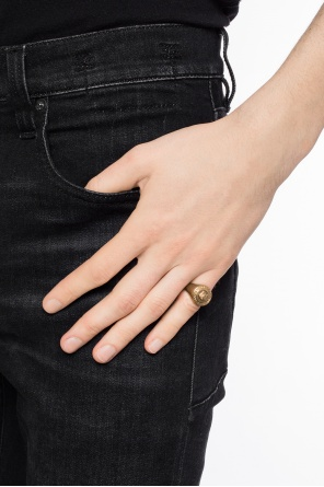 Ring with embossed pattern od Versace