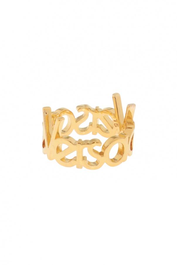 Ring with logo Versace - Vitkac shop online 045cdaddb17