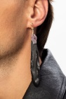 Dsquared2 Clip-on earring with leather pendant