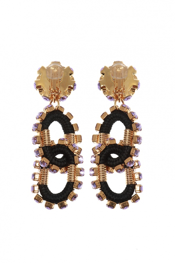 Embellished clip-on earrings od Dsquared2