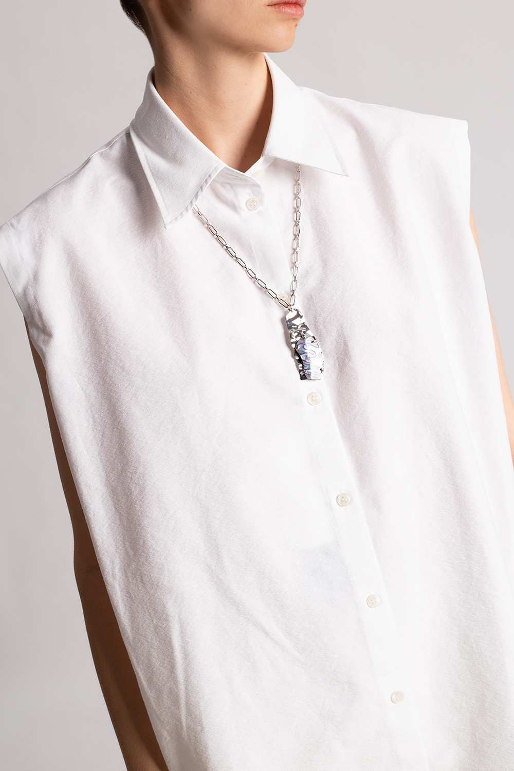 Acne Studios Necklace with shell pendant