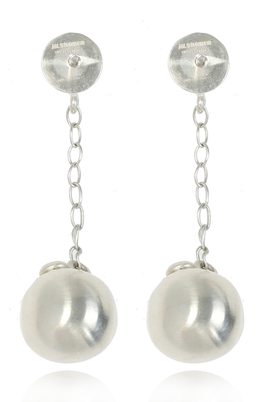 JIL SANDER Silver earrings