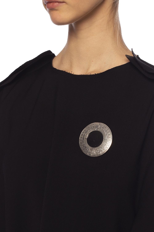 Midgard Paris 'Mayan Calendar' brass brooch