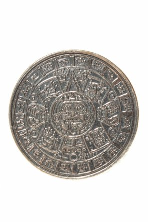 Mayan calendar黄铜戒指 od Midgard Paris