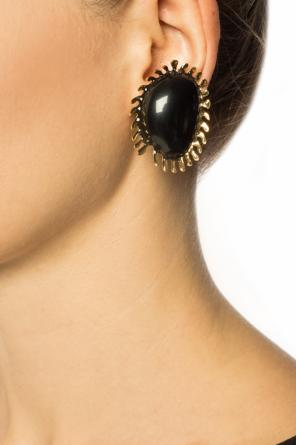 Brass clip-on earrings od Marni