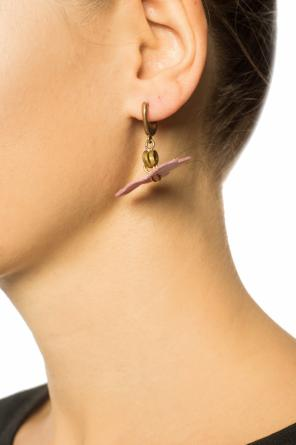 Brass earrings with floral motif od Marni