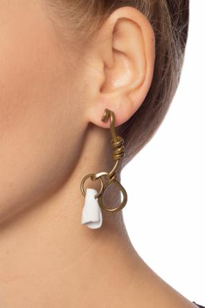Hanging earrings with decorative elements od Marni